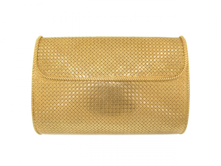 Video of Woven Gold Evening Bag in 14K