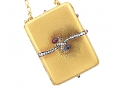 Exceptional Antique French Belle Epoque Dance Card Case in 18K