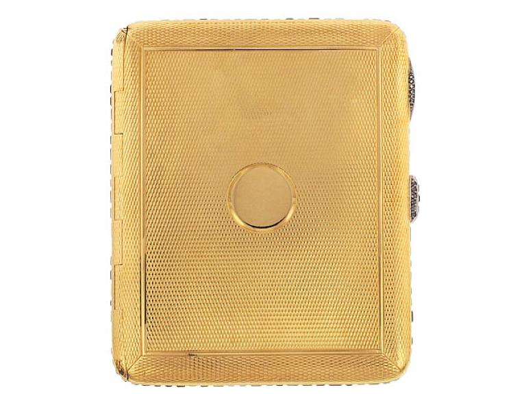 Video of Art Deco Sapphire and Diamond Cigarette Case in 18K
