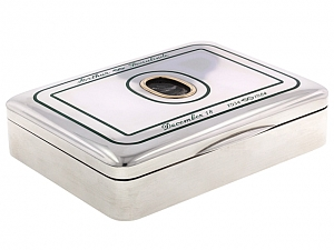 Collector's Micromosaic Embellished Box in Silver