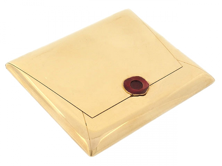 Video of Flato Envelope Compact Box in 14K
