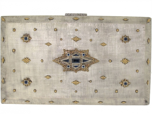 M. Buccellati Cigarette Case with Sapphires in Silver and 18K
