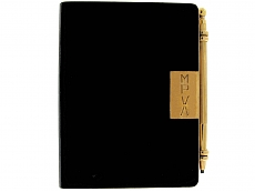 Exceptional Cartier Art Deco Writing Journal and Pencil in 18K