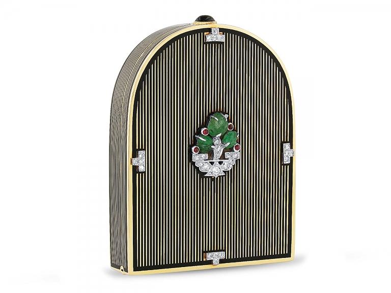 Video of Cartier Art Deco Tutti Frutti and Diamond Box in 18K
