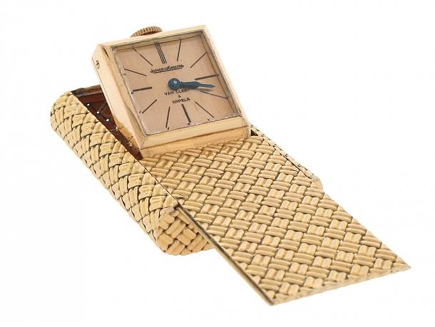 Van Cleef & Arpels Jaeger Le Coultre Travel Clock in 18K