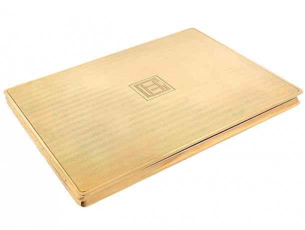 Cartier Paris Retro Cigarette Box in 18K Gold