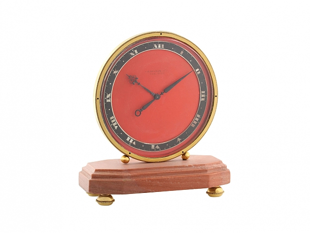 Charlton & Co. Art Deco Eight Day Desk Clock