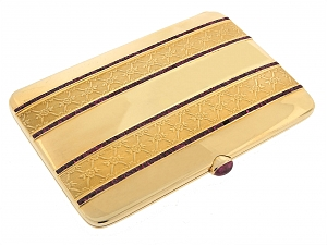 French Ruby and 18K Card/Cigarette Case