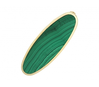 Faraone Malachite Lighter in 18K