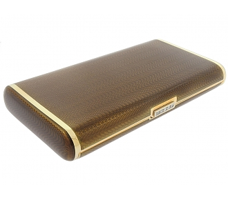 Faraone Enamel Cigarette Box in 18K