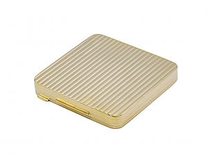 Gold Powder Compact in 14K Gold