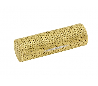 Gold Vanity Case with Diamonds in 18K