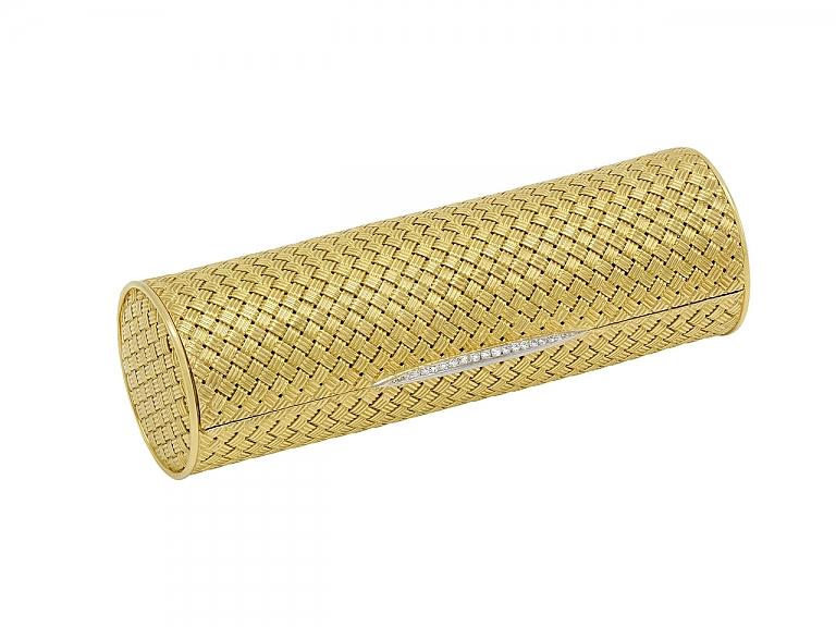 Video of Gold Vanity Case with Diamonds in 18K