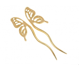 Tiffany & Co. Butterfly Hair Pin Set in 18K Gold