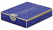 Video of Art Deco Lapis, Diamond and Enamel Box in 14K Gold