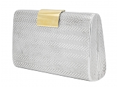 Cartier Purse in Sterling Silver with 18K Gold Clasp