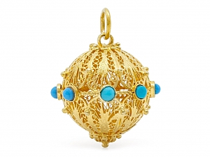 Spherical Charm in 18K Gold