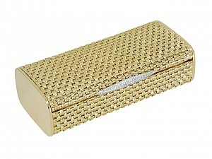 Gold Vanity Case with Diamonds in 18K Gold