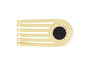 Bulgari Onyx Money Clip in 18K Gold