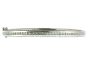 Diamond Eternity Bangle Bracelet in Platinum