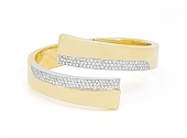 Carlo Weingrill Diamond Bangle Bracelet in 18K