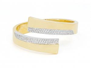 Carlo Weingrill Diamond Bangle Bracelet in 18K