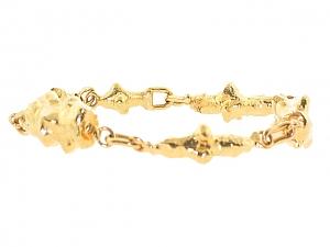Jean Mahie Sculputural  Bracelet in 22K