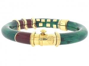 La Nouvelle Bague Enamel Bangle Bracelet in 18K Gold and Sterling Silver