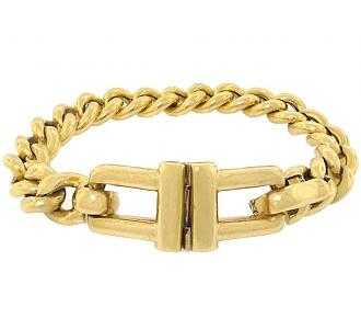 Tiffany & Co. Men's Hinged Link Bracelet in 18K