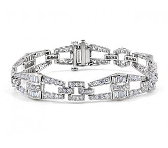 Diamond Bracelet in Platinum