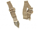 Pair of Antique Victorian Mesh Bracelets in 14K Gold