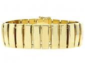 Wide Gold Bracelet in 18K