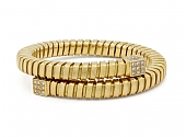 Carlo Weingrill Diamond Tubogas Bracelet in 18K