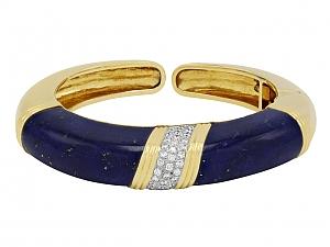 Trio Lapis and Diamond Bracelet in 18K Gold