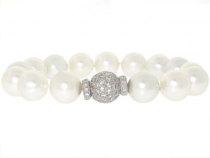 Bulgari South Sea Pearl and Diamond Bracelet in 18K