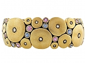 Alex Šepkus Wide Orchid Sapphire and Diamond Cuff Bracelet in 18K