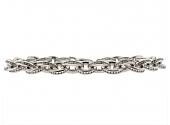 Diamond Link Bracelet in Platinum