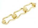 Large Link Bracelet in 18K Gold