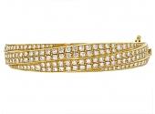 French Diamond Bangle Bracelet in 18K