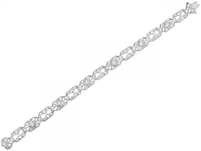 Video of Art Deco Diamond Bracelet in Platinum