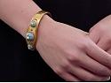 Antique Victorian Enamel and Pearl Bracelet in 18K