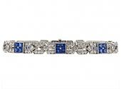 Tiffany & Co. Sapphire and Diamond Bracelet in Platinum