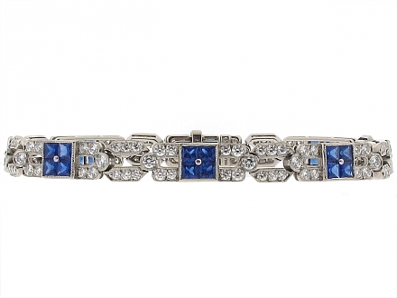 Tiffany & Co. Sapphire and Diamond Bracelet in Platinum