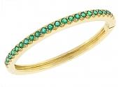 Emerald Bangle in 18K
