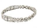 Art Deco Diamond Bracelet in Platinum