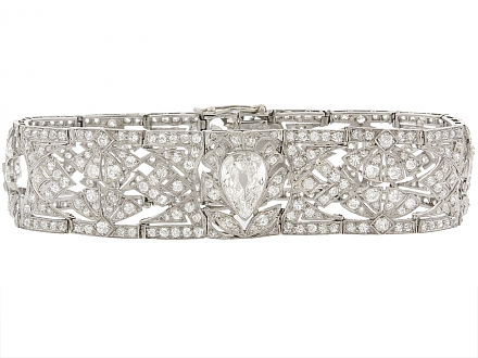 Edwardian Diamond Bracelet in Platinum