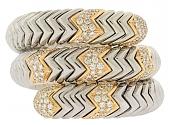 Rare Bulgari 'Spiga' Diamond Bracelet in 18K