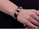 Boucheron Bracelet with Diamonds and Rubies in 18K