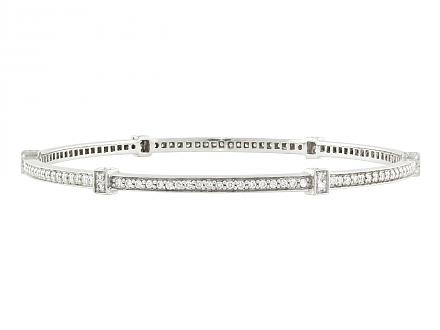 Judith Ripka Diamond Bangle Bracelet in 18K