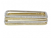 Set of Mimi So 'Piece' Square Bangles in 18K Yellow and White Gold